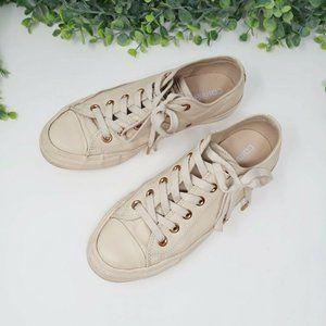 Converse Mono Chucks Ox Leather Cream Sneaker 7.5